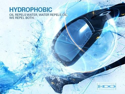 Az Oakley kifejlesztett egy speciális víztaszító ún. Hydrophobic bevonatot.  Ennek a bevonatnak a segítségével a szemüveg lencséjére érkező víz pára  azonnal ... ad28442a3a