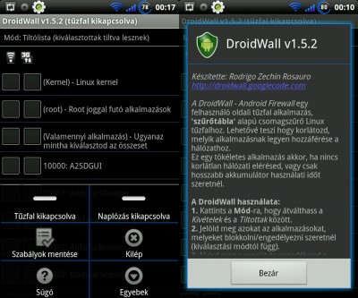 Droidwall Android Tuzfal Magyarul Frissitve 2011 11 08 Logout