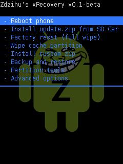 Fôzött ROM felrakása Xperia X8-ra