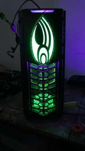 pc ház zöld led fénnyel