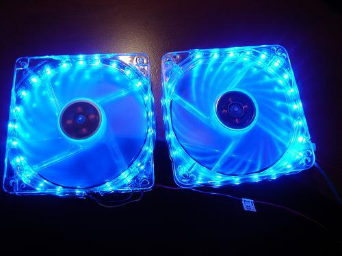 Kék LED szallag modding ventillátorra