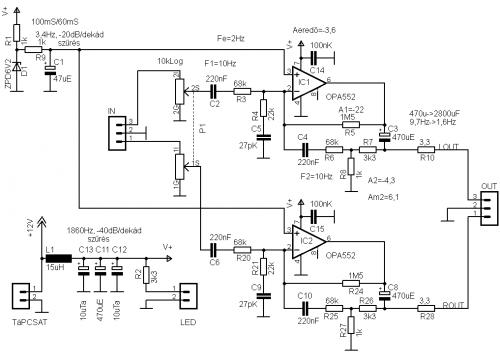 erősítő kondenzátor csatlakoztatva