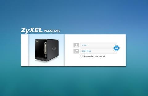 Zyxel NAS326 GUI bemutató I  rész - LOGOUT hu Számtech cikk